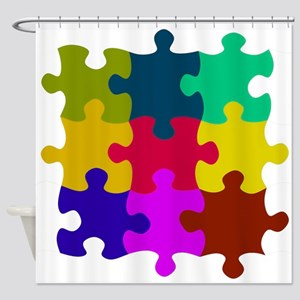 Puzzled? Shower Curtain