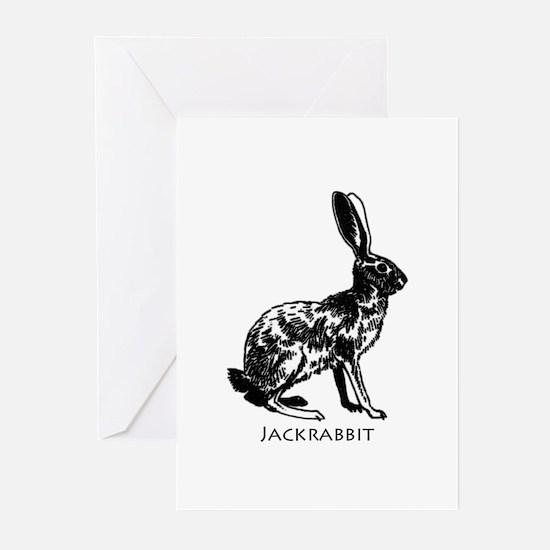 Jackrabbit (illustration) Greeting Cards