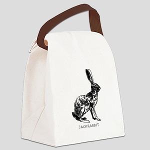 Jackrabbit (illustration) Canvas Lunch Bag