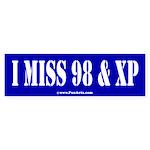 I miss 98 and XP Sticker (Bumper)