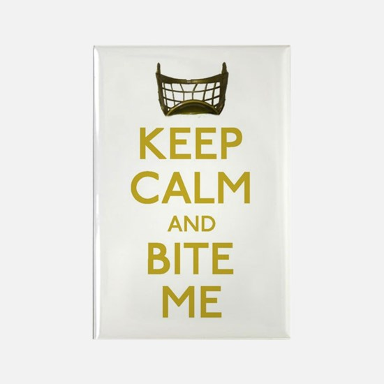 Keep Calm And Bite Me (net) Magnets
