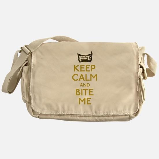 Keep Calm And Bite Me (net) Messenger Bag