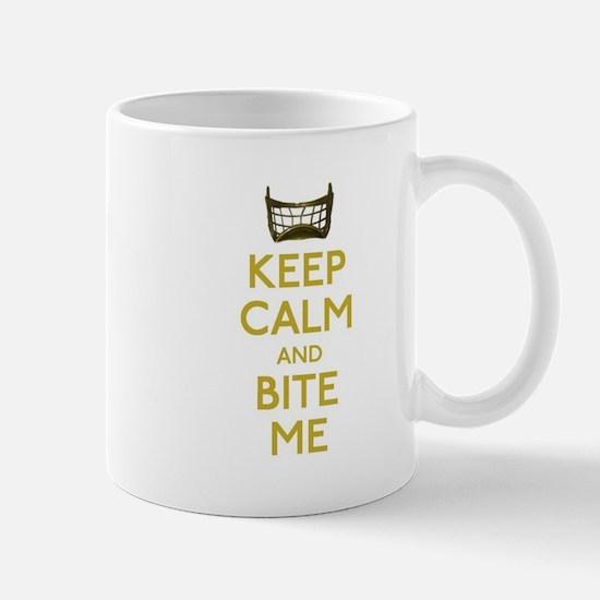 Keep Calm And Bite Me (net) Mugs