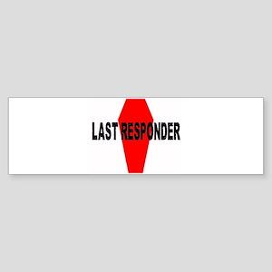 Last Responder Bumper Sticker