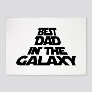 BEST DAD IN THE GALAXY 5'x7'Area Rug