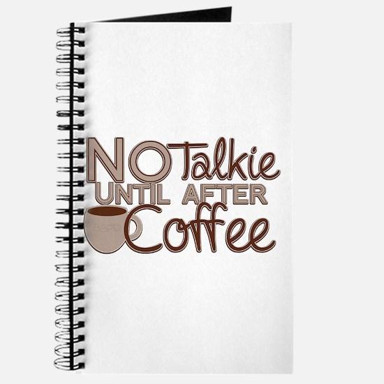 No Talkie Til Coffee Journal