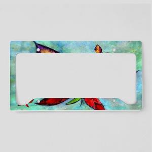 Butterfly Art License Plate Holder