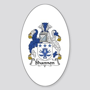 Shannon Oval Sticker