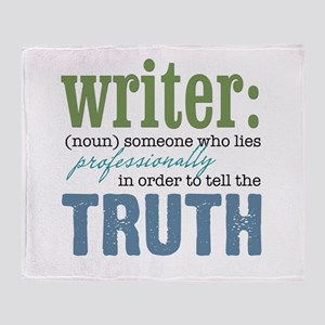 Writers Truth Throw Blanket