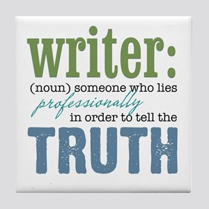 Writers Truth Tile Coaster