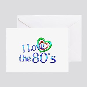 I Love the 80s Greeting Card