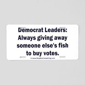 Democrat Leaders Steal Aluminum License Plate