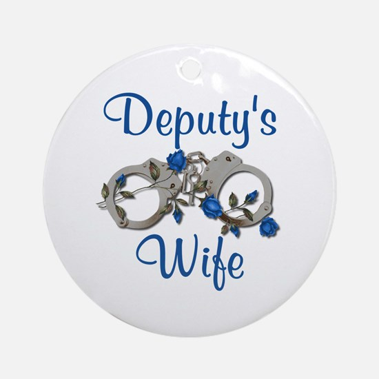 Deputy's Wife Ornament (Round)