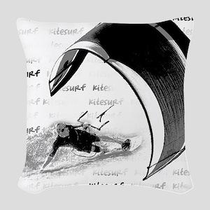 Kitesurf (Light) Woven Throw Pillow