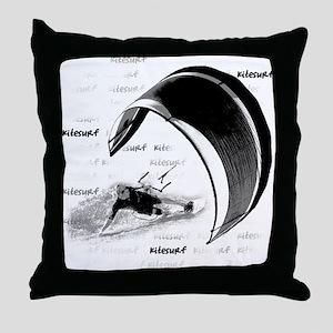 Kitesurf (Light) Throw Pillow