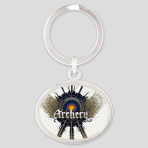ARCHERY Oval Keychain
