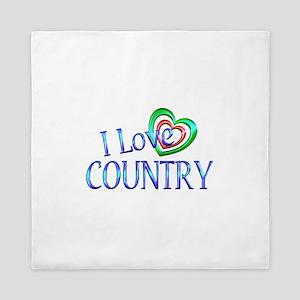 I Love Country Queen Duvet