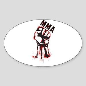 MMA design 2 Oval Sticker