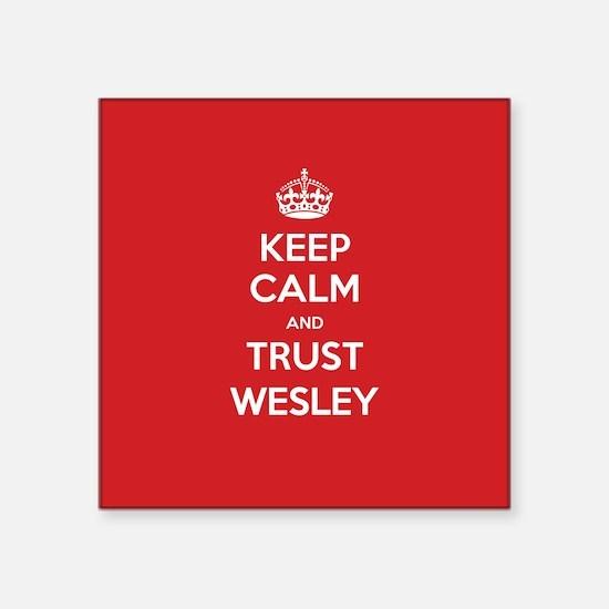 Trust Wesley Sticker