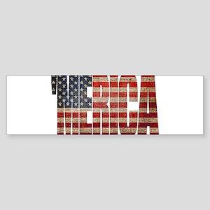 Vintage MERICA U.S. Flag Bumper Sticker