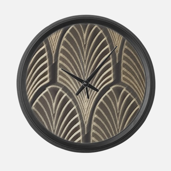 Art Deco Fan Geometric Large Wall Clock