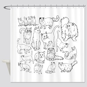 Too Many Cats Shower Curtain