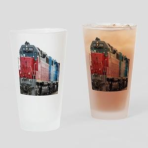 Train Duvet 1 Drinking Glass