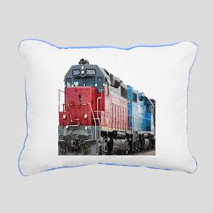 Train Duvet 1 Rectangular Canvas Pillow