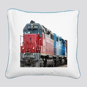 Train Duvet 1 Square Canvas Pillow