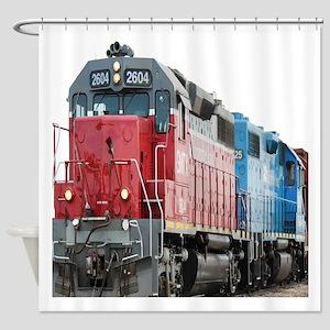 Train Duvet 1 Shower Curtain