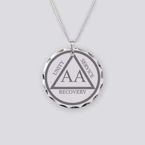 AA symbol Necklace Circle Charm