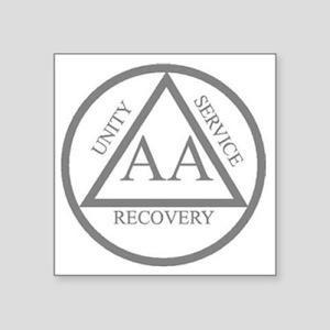 "AA symbol Square Sticker 3"" x 3"""