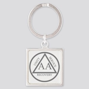 AA symbol Square Keychain