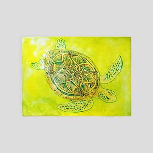 Celtic Knotwork Turtle 5'x7'Area Rug
