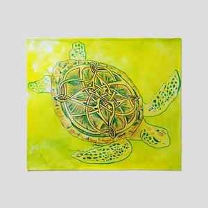 Celtic Knotwork Turtle Throw Blanket