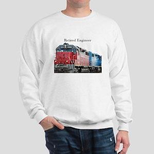 Train Retired Engineer Sweatshirt