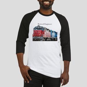 Train Retired Engineer Baseball Jersey