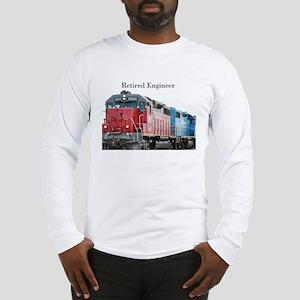 Train Retired Engineer Long Sleeve T-Shirt