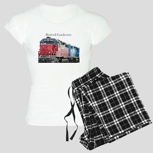 Train Retired Conductor Pajamas