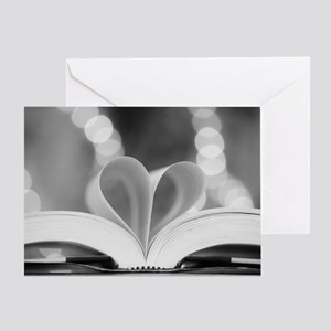 Book Heart Greeting Card