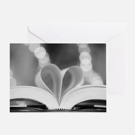 Book Heart Greeting Card