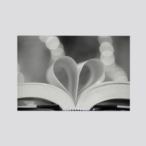 Book Heart Rectangle Magnet