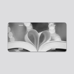 Book Heart Aluminum License Plate