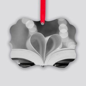 Book Heart Picture Ornament