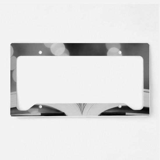 Book Heart License Plate Holder