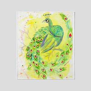 Dream Peacock Throw Blanket