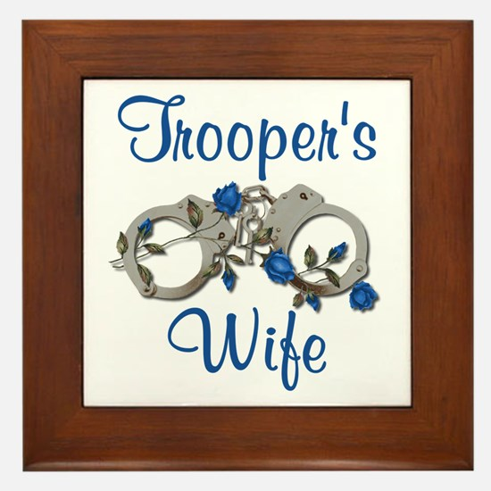 Trooper's Wife Framed Tile