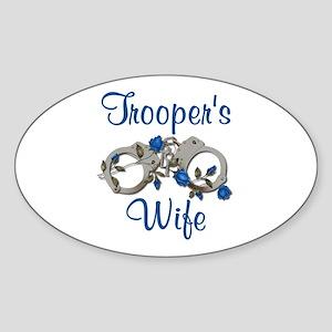 Trooper's Wife Oval Sticker
