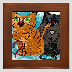 Crazy Love Cats Framed Tile