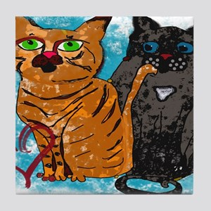 Crazy Love Cats Tile Coaster